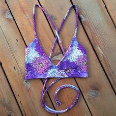 The Monaco Surf CeaBikinis Cross Back Bikini Top di CeaBikinis