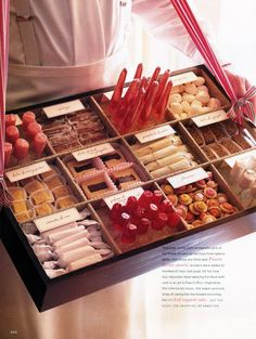 """I like the idea of a """"sweets tray"""" Destination wedding: Las Croabas, Puerto Rico. servers carried trays from table to table filled with Puerto Rican sweets. Roaring 20s Party, 1920s Party, Great Gatsby Party, 1920s Theme, Gatsby Theme, Cookie Buffet, Candy Buffet, Candy Table, Wedding In Puerto Rico"""