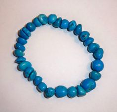 Turquoise Dyed Howlite Bead Plus Size Stretch by NalisNotions, $16.00