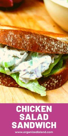 Best Chicken Salad Recipe - Organized Island Salad Recipes Holidays, Side Salad Recipes, Summer Salad Recipes, Best Chicken Salad Recipe, Great Chicken Recipes, Grilled Chicken Recipes, California Food, Southern California, Gourmet Chicken