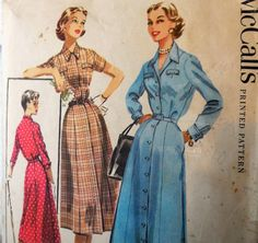 McCall's 3618  Cute 1950s Vintage Dress Pattern  by Clutterina