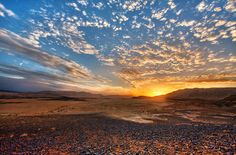 Sunset at Makhtesh Ramon (Ramon Crater) in the Negev Desert. Photo by Noam Chen israel21c.org