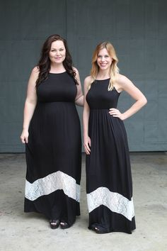 Black and Lace Maxi Dress - Be Inspired Boutique