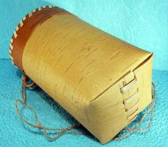 Russian Ancient Peasant Birch Bark Berry Basket Bag #15