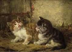 ULIUS II ADAM 1852-1913 LITTLE FIGHTERS, private collection