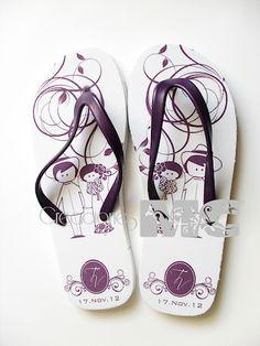 sandalias para boda en morado