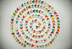 Perfectly Symmetrical Paper Installation by Will & Caro, Carolyn Wong and William Du. Primarily working with washi (Japanese paper) Paper Butterflies, Butterfly Art, Butterfly Migration, Paper Installation, Paper Art, Paper Crafts, Japanese Paper, Elementary Art, Amazing Art