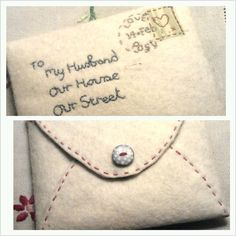 Stitched envelope by 'Teenytinyhouse'