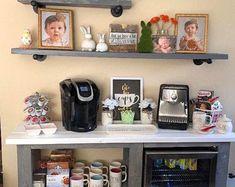 Rustic X Coffee Bar / Rustic X Farmhouse Coffee Bar / Mini Fridge Table / Dining Bar / Farmhouse Bar / Fridge Table / Mini Fridge Console - Etsy – Shopping Cart Hm Deco, Coffee Cabinet, Wooden Cooler, Coffee Bars In Kitchen, Kitchen Small, Wine Rack Cabinet, Liquor Cabinet, Bar Drinks, Beverage