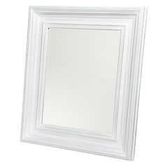 Reside Chateau Wood Mirror White 40 x 50cm - Mirrors - Home Decor - Homewares - The Warehouse