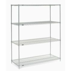 "Nexel 4 Shelf Shelving Unit Starter Finish: Poly-Z-Brite, Size: 74"" H x 42"" W x 24"" D"