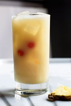 This take on the piña colada owes its silky texture to Coco Lopéz, a creamy mixture of sugarcane and coconut cream.
