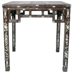 Antique Lacquered Chinese Mahjong Table | From a unique collection of antique and modern side tables at http://www.1stdibs.com/furniture/tables/side-tables/