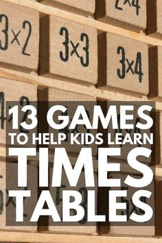 Teaching Times Tables If Youre Looking For Times Tables Tricks And Games For Kids, Weve Got 15 Ideas To Make Teaching Multiplication Fun. With Tons Of Free Printables To Choose From, These Multiplication Games And Activities Are Perfect For Math For Kids, Fun Math, Math Activities, Kids Fun, Help Kids, Indoor Activities, Teaching Time, Teaching Math, Teaching Tables