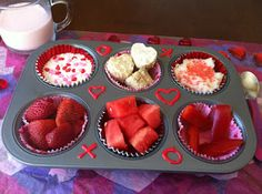 Valentine's Muffin Tin Meals for kids