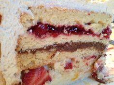 "Zuppa Inglese Cake.  Technically, it means ""English Soup.""  No, I don't know why.  But it's delicious.  Seriously.    ""Zuppa Inglese Cake"" -..."