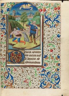 Catholic Church. Book of hours : use of Rouen : manuscript, [between 1475 and 1500]. MS Lat 133Houghton Library, Harvard University