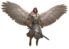 Angel, Solar (from the D&D fifth edition Monster Manual). Art by ...