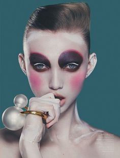 Dansk Magazine Spring 2014 - This Dansk Magazine Spring 2014 beauty editorial goes a little overboard on the use of the blush. Photographer Bo Egestrøm snaps up this ki...