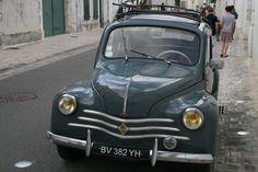 Old french car in Ars-en Re, France