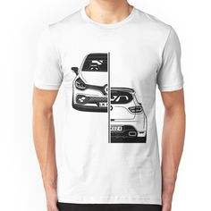 Renault Clio 3rd Gen 2006 Retro Style Mens Car T-Shirt
