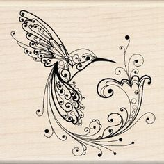 Amazon.com: Inkadinkado Hummingbird Wood Stamp: Arts, Crafts & Sewing
