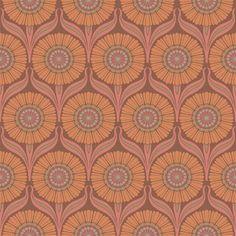 Nouveau in Earth Brown by Bradbury & Bradbury #bradburywallpaper
