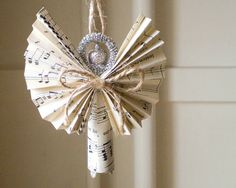Clothespin Angel  Handmade Ornament made with by smilemercantile, $13.50