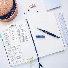 Trying something new for next week. I know many of you use this regularly, and now I'm giving it a go too :) It's time for some Bullet Journal Weekly Logs!