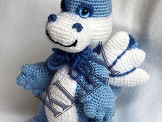 Ideas For Crochet Animals Amigurumi Baby Dragon Crochet Beanie Hat, Knit Or Crochet, Crochet Motif, Crochet Toys, Crochet Baby, Free Crochet, Teddy Bear Knitting Pattern, Knitting Patterns, Dinosaurs