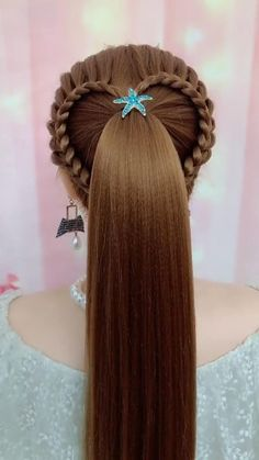 Hairdo For Long Hair, Long Hair Video, Bun Hairstyles For Long Hair, Girl Hairstyles, Braided Hairstyles, Hairstyle Braid, Beautiful Hairstyles, Quick Hairstyles, Hair Updo
