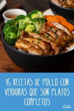 15 recetas de pollo y verduras para platos completos, ¡para toda la familia! Paleo Recipes, Cooking Recipes, Lemon Chicken, Kfc, Cakes And More, Deli, Chicken Recipes, Bakery, Recipies