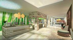 EVEN hotel reception, rendering