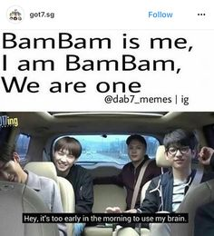 Anti's of Do you not have anything great in your life that you are minding other peoples business? Stop harassing BamBam with your filthy words. Got7 Meme, Got7 Funny, Funny Kpop Memes, Bts Memes, Hilarious, Youngjae, Jaebum Got7, Got7 Bambam, Jinyoung