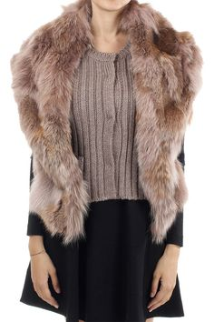 df0d07964fb2d MIU MIU Women Sleeveless cardigan with dyed coyote fur panels - Glamood  Outlet