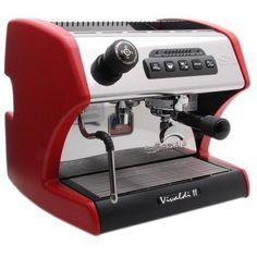La Spaziale S1 Vivaldi II Espresso Machine - Red A nice sleek red espresso maker for your office and home espresso needs.