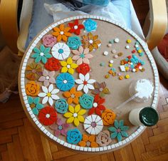 Best 8 Decor Hacks : One look at Pier Elba Mosaic Accent Table and we instantly think of summer patio parties. With a colorful, hand-applied mosaic top and sturdy weather-resistant iron frame, Elba may become the center of attention—especially when Mosaic Tile Designs, Mosaic Tile Art, Mosaic Artwork, Mosaic Crafts, Mosaic Projects, Stone Mosaic, Mosaic Patterns, Mosaic Glass, Glass Art