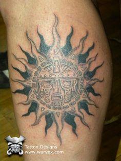 Tribal Sun Tattoo » ₪ AZTEC TATTOOS ₪ Aztec Mayan Inca Tattoo Designs Instant Download