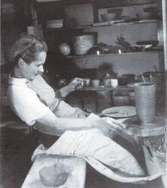 Appraisal: Lucie Rie – Hobbies paining body for kids and adult Artist And Craftsman, Perfume, Pottery Studio, Ceramic Artists, Clay Crafts, Artist At Work, Art School, Ceramic Pottery, Creative Art