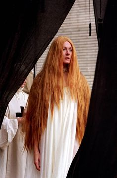 Vanessa Redgrave on the set of 'The Devils' Directed by Ken Russell Vanessa Redgrave, British Actresses, Actors & Actresses, Ying Gao, Ken Russell, Let Your Hair Down, Film Stills, Redheads, Red Hair