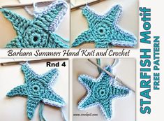 MICROCKNIT CREATIONS: STARFISH Crochet FREE Pattern