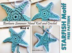 MICROCKNIT CREATIONS: STARFISH Crochet FREE Pattern