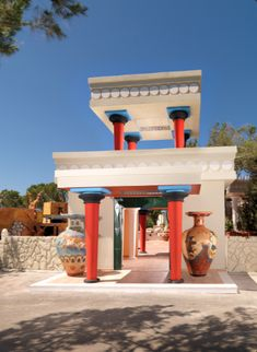 Inspired by the famous Ancient Minoan Palace sites of Knossos, Phaistos and Malia, the #OutOfTheBlueCapsis features a re-designed fairyland and historical amusement #park for children and their parents. This unique park in our #family #resort in #Crete is open to the hotel guests as well as to the public and to all children who wish to experience this, one-of-a-kind for #Greece, #playland. #Travel #FamilyHolidays