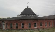 Brick Train Roundhouse at Martinsburg, West Virginia - View from Amtrak's The Capitol Limited