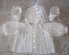 2d6ca509b free Vintage Crochet Baby Layette Set