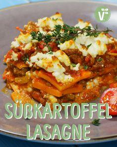 Recipe for lasagna with sweet potatoes - Pizza Recipes Meat Recipes, Mexican Food Recipes, Healthy Recipes, Ethnic Recipes, Potato Lasagna, Sweet Potato Recipes, Diy Food, Soul Food, Food Videos