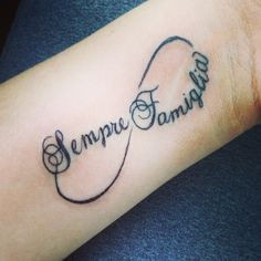 Sempre famiglia...family forever in Italian. My newest tattoo!!!