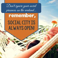 Don't totally ignore your tribe on #weekends...remember social city is always open! #weblinkindia #tgif #friday