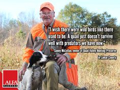 Sonny McLellan, owner of Quail Valley Hunting Preserve in Lamar County