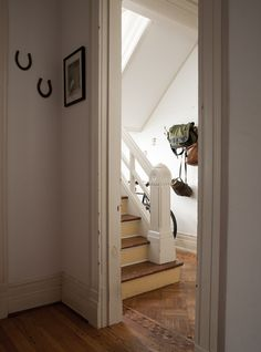 A Buffalo Home Designed To Welcome Friends and Family – Design*Sponge Horseshoes, Foyers, Farmhouse Design, Hallways, Stairways, Home Interior Design, House Tours, Closets, Interior Inspiration